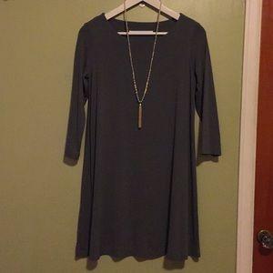 susana monaco 3/4 sleeve a-line knit dress